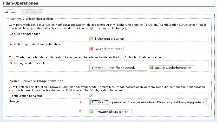 Router flashen auf dem bereits OpenWrt installiert ist — Meshkit 0.1 ...